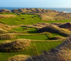 Trump International Golf Links north of Aberdeen may be a new course. But it is just awesome both in terms of golf and beauty. No bad holes really.