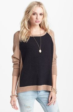 Comfy cozy & would totally wear to work or on the weekend! Free People 'Tabbard' Pullover Sweater