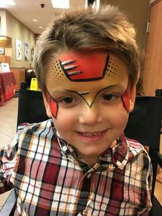 Quick Ironman Superhero Face Painting, Face Painting For Boys, Face Painting Designs, Body Painting, Iron Man Face Paint, Mime Face Paint, Facial, Superhero Design, Halloween