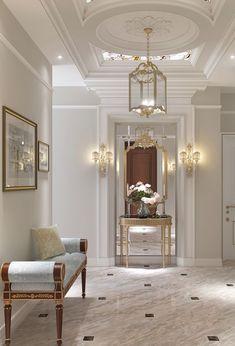 Foyer decorating – Home Decor Decorating Ideas Design Entrée, Home Design, Home Interior Design, Interior And Exterior, Classic Interior, Luxury Interior, Modern Interior, Modern Decor, Foyer Decorating