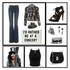 """""""I Love a Great Rock Show!"""" by krusie ❤ liked on Polyvore featuring Frame Denim, BaubleBar, Rebecca Minkoff, Miss Selfridge, GUESS, Jewel Exclusive, Chloé and Twist & Tango"""