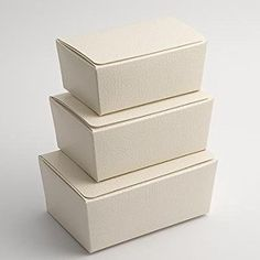 Medium Ballotin Favour Boxes - Antique White Pelle (Pk 10 flat packed, without decorations)
