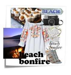 """""""Beach bonfire"""" by mildredsunrise on Polyvore featuring Post-It, Eight Fifteen and Free People"""