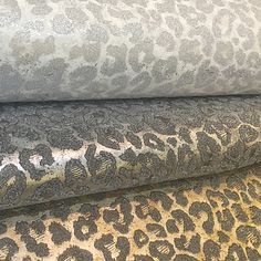 A Leopard Print Given Glamorous Beaded And Metallic Treatment Bedroom