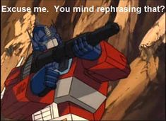 Become a Prime it will be FUN! by Crazomatic on DeviantArt Transformers Memes, Transformers Decepticons, Transformer 1, Dark Humour Memes, Sci Fi Armor, Optimus Prime, Marvel Funny, Reaction Pictures, Funny Memes