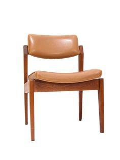 Gunlocke Danish Modern Stacking Side Chairs tan by TheMarvelarium