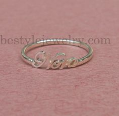 Antique Name Ring - Initial Name Ring - Unique Gift -  Gift For Women - Sterling Silver