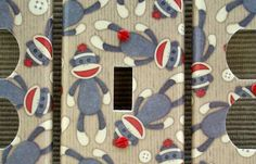 Sock Monkey Switch and Outlet Plates