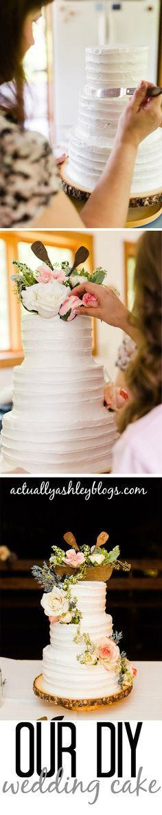 Making your own wedding cake - decorate to match theme