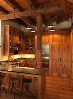 You Need To Do About Small Log Cabin Kitchens Ideas 11 - sitihome Rustic Cabin Kitchens, Rustic Kitchen Island, Rustic Kitchen Cabinets, Rustic Kitchen Design, New Kitchen Designs, Kitchen Images, Modern Farmhouse Kitchens, Italian Kitchens, Small Log Cabin