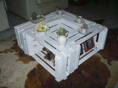 DIY / HAM mesa central  cajas de madera frutas
