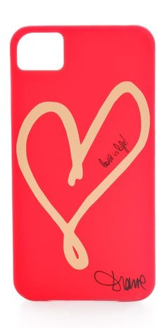 { My new iPhone case }  Diane von Furstenberg Hearts iPhone 4 Case | SHOPBOP