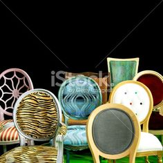 Chair backs Royalty Free Stock Photo