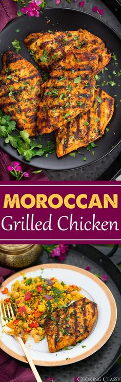 Grilled Moroccan Chicken - Cooking Classy (Projects To Try Easy) Grilling Recipes, Cooking Recipes, Healthy Recipes, Cooking Videos, Cooking Tips, Barbecue Recipes, Pollo Al Bourbon, Moroccan Chicken, Grilled Chicken Recipes
