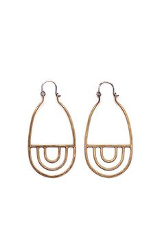 // Currently in stock and ready to ship // Cast and hand textured bronze earrings with woven Irish linen. Prea earrings measure 3 inches long. Please select color when ordering. Our work is made to or