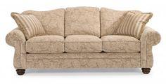 Bexley One-Tone Fabric Sofa without Nailhead Trim by #Flexsteel via Flexsteel.com