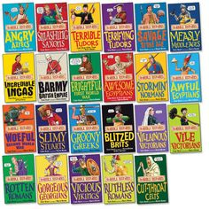 Horrible Histories (various) by Terry Deary History Books, World History, Books For Boys, Childrens Books, Horrible Histories, Reluctant Readers, Album Book, Teaching Tools, Social Studies