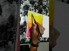 Firey Sky in water colours in time lapse - YouTube