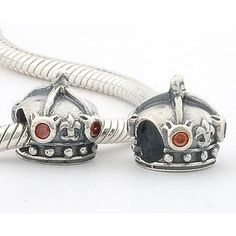 1pc 925 Sterling Silver Charms Helmet Red Crystal ($17.99)