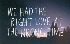 right love, wrong time