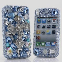 Style 448 This Bling case can be handcrafted for iPhone 4/4S, 5, 5S, and 5C. (Our professional designers will handcraft a case for you in as little as 2 weeks) Click image for direct link