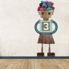 Robot Mai #robot #custom #wallsticker #decoration #adhesiu #kids #room