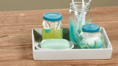 Use nail polish to craft colorful glassware! This easy DIY project is something the whole family can help with.
