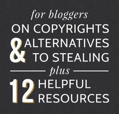 The truth about copyrights and how you can help protect yourself and the work of other creatives by not stealing from them.    Love Grows Design