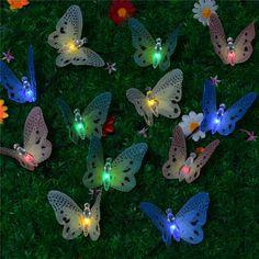 Amazon.com - INST Solar Fiber Optic Butterfly String Lights -