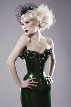 LATEX FLORAL CORSET  made to order by OohLaLatex on Etsy