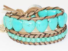 Turquoise Wrap Bracelet with Princess Pendant by dsthaiShop, $12.00