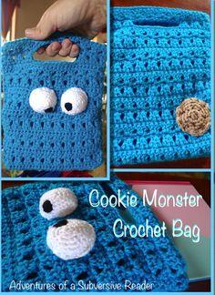 Cookie Monster Crochet Bag: Adventures of a Subversive Reader
