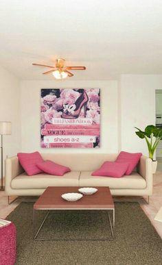 Rund Ums Haus, Wohnzimmer, Ideen, Stilvolle Wohnzimmer, Rosa Wohnzimmer,  Rosa Akzente, Wohnideen, Rosa Mode, Haus Wohnzimmer, Leben Auf Kleinem  Raum, ...