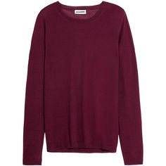 Jil Sander Cashmere and silk-blend sweater ($820) ❤ liked on Polyvore featuring tops, sweaters, purple sweater, silk blend sweaters, jil sander, purple top and jil sander sweater