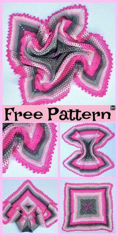 Crochet Pineapple Baby Blanket - Free Pattern #freecrochetpatterns #babyblanket