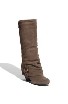 Beautiful suede boots in gray, black & brown $99.  Gray it is!