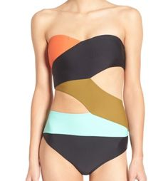 Volcom Simply Solid Cutout One-Piece Swimsuit