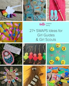 SWAPS Ideas for Girl Guides and Girl Scouts Looking for some inspiration for Girl Guide and Girl Scout SWAPS? Check out these easy and adorable SWAPS ideas and projects that kids can craft! Girl Scout Swap, Girl Scout Leader, Girl Scout Troop, Swaps For Girl Scouts, Girl Scout Daisy Activities, Girl Scout Crafts, Brownie Girl Scouts, Girl Scout Cookies, Creative Logo