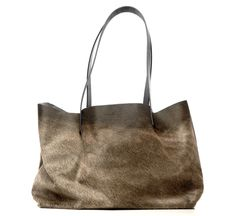 small haircalf niklaas leather tote bag by atelier marchal