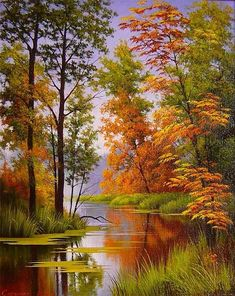 ideas for beautiful landscape paintings bob ross Fall Pictures, Pictures To Paint, Nature Pictures, Landscape Pictures, Watercolor Landscape, Landscape Art, Landscape Paintings, Landscape Rocks, Landscape Fabric