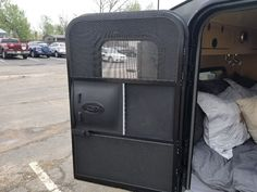 Door with window and screen Hiker Trailer, Windows And Doors, Home Appliances, House Appliances, Appliances