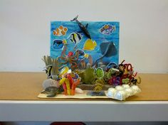 Ocean Habitat Project School Art Projects, Science Projects, Diy Projects, School Fun, School Stuff, School Ideas, Science Fair Experiments, Ecosystems Projects, Ocean Habitat