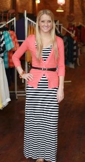 cardigan with belt over maxi dress