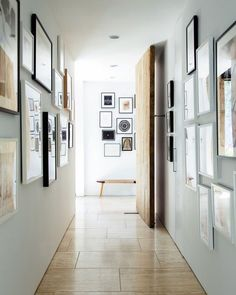 Struggling to decorate your long, narrow hallway? We have 19 long narrow hallway ideas that range in difficulty. From painting one wall to adding a long runner, we've got you covered. Turn your hallway into a library, or add shoe storage. Narrow Hallway Decorating, Foyer Decorating, Decorating Ideas, Decor Ideas, Hallway Inspiration, Decor Inspiration, Hallway Wall Decor, Entryway Decor, Hallway Ideas
