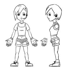 Chibi Anime Character Model Sheet by johnnydwicked