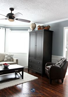 Blue Paint Colours: The 2 Types and Where They Work Best Best Gray Paint Color, Blue Gray Paint Colors, Paint Colours, Gray Color, Wall Colors, House Colors, Beige Paint, Neutral Paint, Benjamin Moore Grey Owl