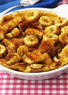 Low FODMAP Recipe and Gluten Free Recipe - Banana, cinnamon & maple pudding http://www.ibs-health.com/low_fodmap_banana_cinnamon_maple_pudding.html