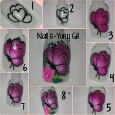 Eyeliner, Models, Pedicure, Makeup Tips, Butterfly, Nail Art, Hacks, Flower Nails, Easy Nails