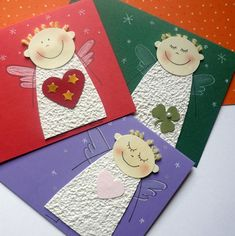 Paper Christmas Decorations, Diy Christmas Cards, Christmas Angels, Christmas Ornaments, Christmas Handprint Crafts, Christmas Activities, Xmas Crafts, Christmas Art For Kids, Christmas Drawing