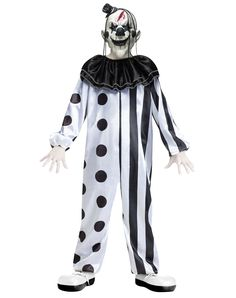 Black and White Killer Clown Child Costume  sc 1 st  Pinterest & Boys Creepy Clown Costume - Party City | Clown Costumes and Makeup ...